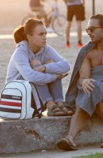 ROSIE JONES on the Beaches in Santa Monica 11/18/2017