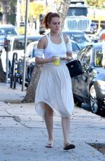 RUMER WILLIS Leaves Tattoo Removal Treatment in Studio City 11/18/2017