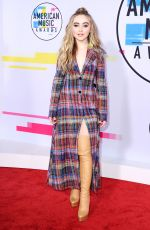 SABRINA CARPENTER at American Music Awards 2017 at Microsoft Theater in Los Angeles 11/19/2017