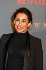 SAIRA KHAN at The Crown Season 2 Premiere in London 11/21/2017