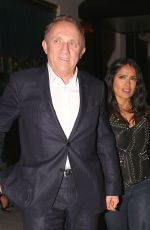 SALMA HAYEK and François-Henri at Mastro