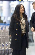 SALMA HAYEK at Airport in Los Angeles 11/06/2017