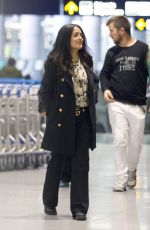SALMA HAYEK at Airport in Los Angeles 11/06/2017