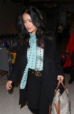 SALMA HAYEK at Los Angeles International Airport 11/16/2017