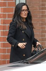 SALMA HAYEK Out and About in Beverly Hills 10/31/2017