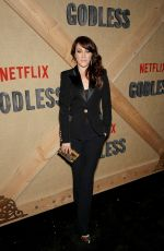 SAMANTHA SOULE at Godless Series Premiere in New York 11/19/2017
