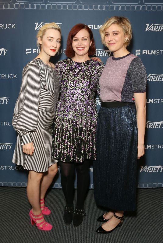 SAOIRSE RONAN, ALICIA MALONE and GRETA GERWIG at Lady Bird Variety Screening in Los Angeles 11/09/2017