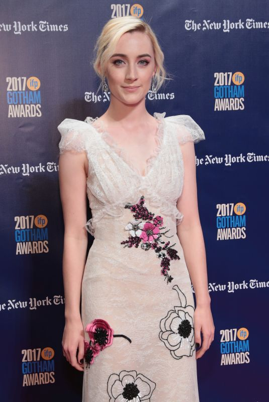SAOIRSE RONAN at 2017 IFP Gotham Independent Film Awards in New York 11/27/2017