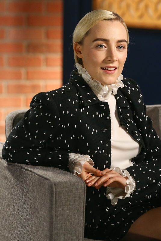 SAOIRSE RONAN at Variety's Actors on Actors Studio in Los Angeles 11/12/2017