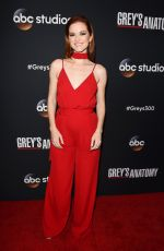 SARAH DREW at 300th Grey's Anatomy Episode Celebration in Hollywood 11/04/2017