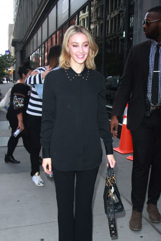 SARAH GADON and CHRISTY ALTOMARE Arrives at Build Series in New York 11/03/2017