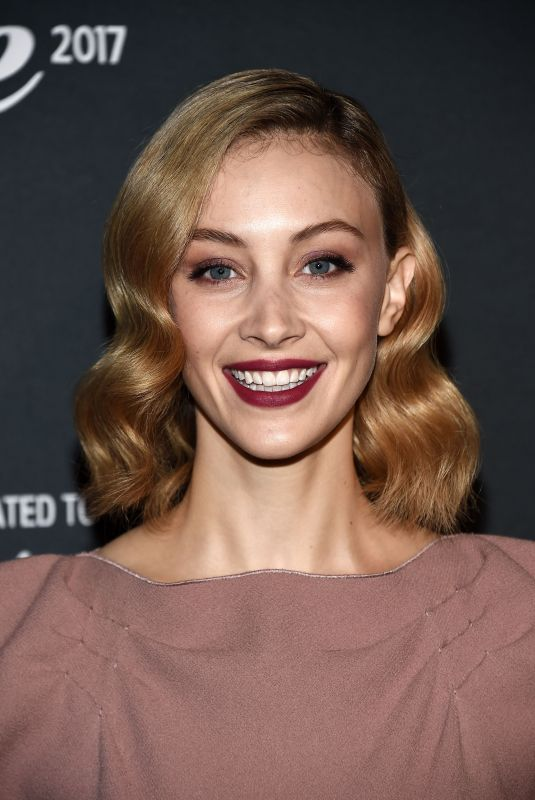 SARAH GADON at Cinema Italian Style Kick-off and Inaugural Cinecitta Key Award at AFI Fest 2017 in Hollywood 11/15/2017