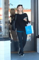 SARAH GADON Out Shopping in Hollywood 11/18/2017