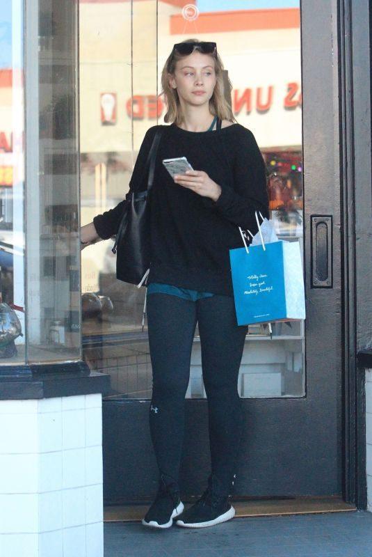 SARAH GADON Shopping at Detox Market in Hollywood 11/18/2017