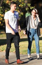SARAH HAYLAND and Wells Adams Kissing Out in Los Angeles 11/21/2017