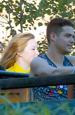 SARAH HYLAND Celebrates Her Birthday with Wells Adams at Disneyland 11/25/2017