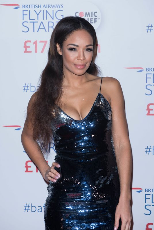SARAH-JANE CRAWFORD at British Airways Star-studded Event in London 11/16/2017