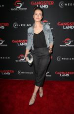 SARAH LAINE at Gangster Land Premiere in Los Angeles 11/29/2017