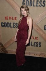 SARAH MINNICH at Godless Series Premiere in New York 11/19/2017