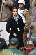 SARAH WAYNE CALLIES on the Set of Colony, Season 2 in Vancouver 11/21/2017