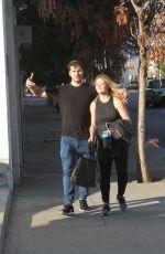 SASHA PIETERSE and Gleb Savchenko Leaves DWTS Practice in Los Angeles 11/15/2017