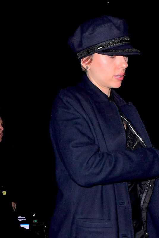 SCARLETT JOHANSSON Night Out in New York 11/20/2017