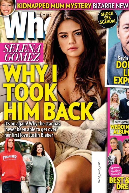 SELENA GOMEZ in Who Magazine, November 2017 Issue