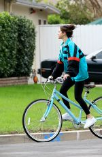 SELENA GOMEZ Out Ridin a Bike in Los Angeles 10/31/2017