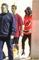 SELENA GOMEZ Watches Justin Bieber Play Hokey in Los Angeles 11/01/2017