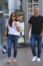 SELMA BLAIR and Ron Carlson in Jeans Shopping at The Grove in West Hollywood 11/18/2017