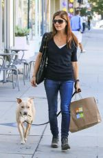 SELMA BLAIR Out with Her Dog in Los Angeles 11/14/2017
