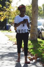 SHANOLA HAMPTON Out and About in Los Angeles 11/28/2017