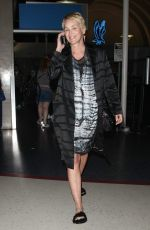 SHARON STONE at LAX Airport in Los Angeles 11/10/2017