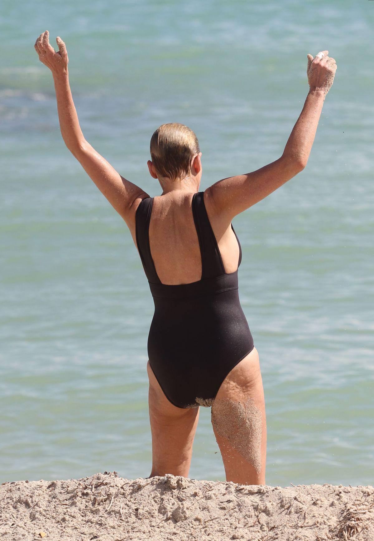 sharon stone nude on the beach