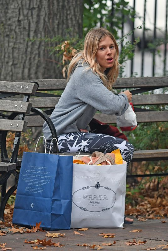 SIENNA MILLER Out Shopping in New York 11/06/2017