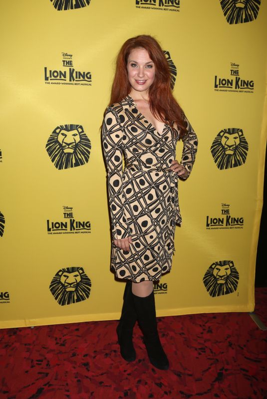 SIERRA BOGGESS at The Lion King 20th Anniversary Performance on Broadway in New York 11/06/2017