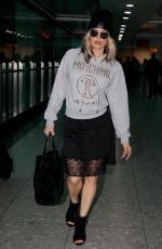 STACY FERGIE FERGUSON at Heathrow Airport in London 11/15/2017