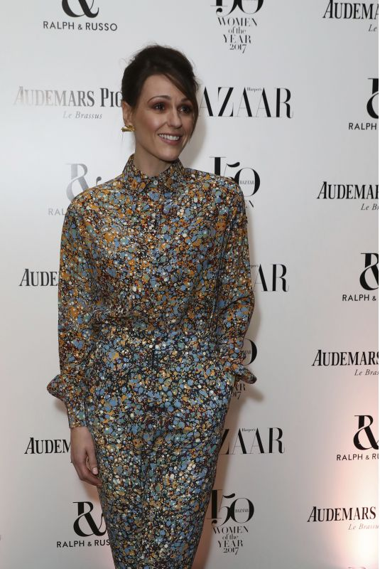 SURANNE JONES at Harper's Bazaar Women of the Year Awards in London 11/02/2017
