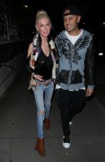 TARA REID and Ted Skillet at Madeo Restaurant in West Hollywood 11/21/2017