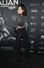 TATIANA LUTER at a Ciambra Screening at Cinema Italian Style in Los Angeles 11/16/2017