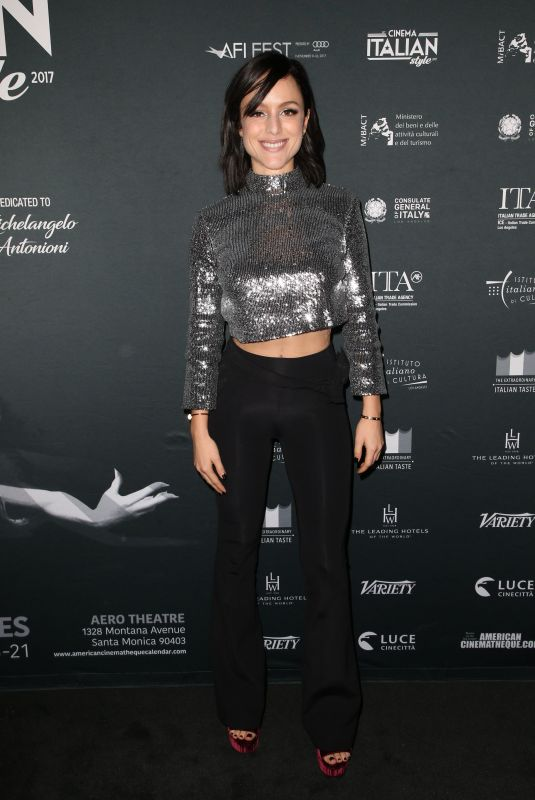 TATIANA LUTER at a Ciambra Screening at Cinema Italian Style in Los Angeles 11/16/2017