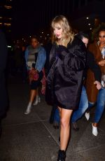 TAYLOR SWIFT Arrives at SNL After-party in New York 11/12/2017