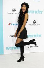 TEALA DUNN at Wonder Premiere in Los Angeles 11/14/2017