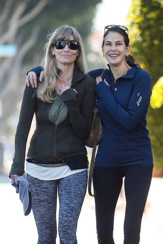 TERI HATCHER and Friend Out in Santa Monica 11/14/2017