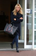 TESS DALY Leaves Her Hotel in Blackpool 11/18/2017