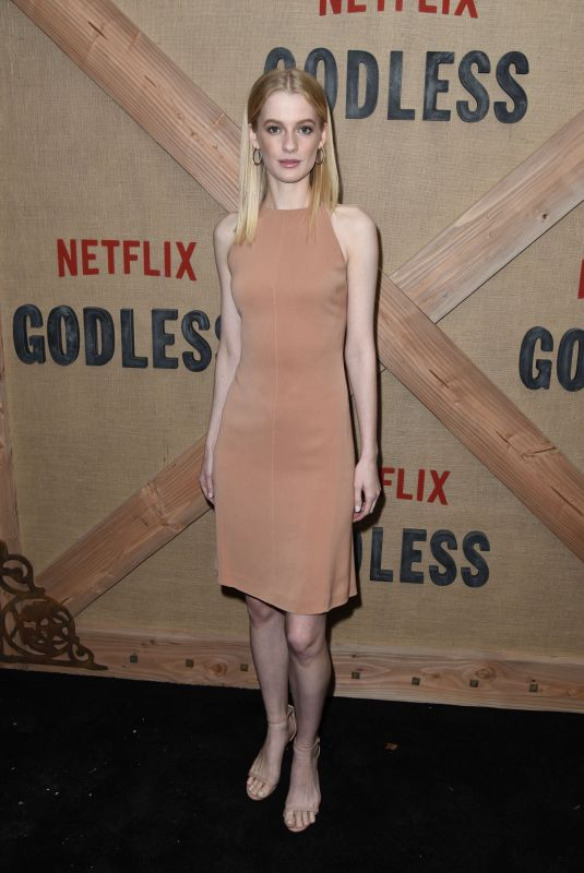 TESS FRAZER at Godless Series Premiere in New York 11/19/2017