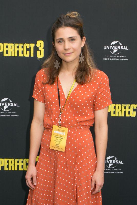TESSA DE JOSSELIN at Pitch Perfect 3 Premiere in Sydney 11/29/2017