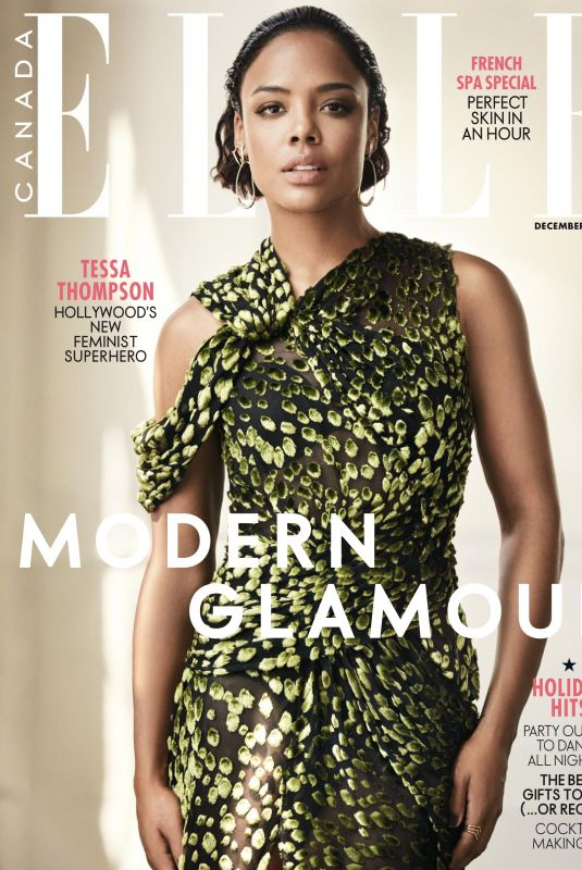 TESSA THOMPSON in Elle Magazine, December 2017 Issue