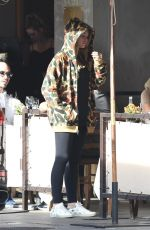 THYLANE BLONDEAU at Il Pastaio in Beverly Hills 11/18/2017
