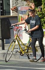 THYLANE BLONDEAU Out for Bicycle Ride in Venice Beach 11/22/2017